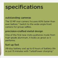 Moto G (5th Gen) G5 full specifications