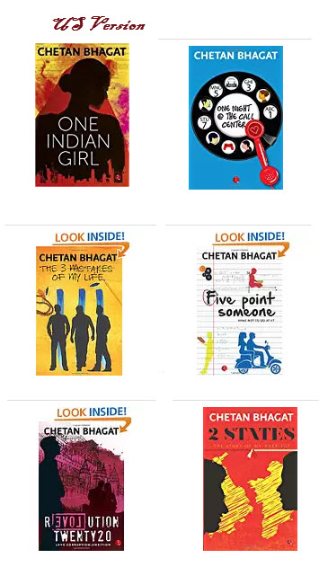 chetan bhagat all books US amazon