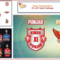 IPL 2017 – Daily Challenge : Match 33:  Kings XI Punjab Vs Sunrisers Hyderabad