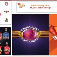 IPL 2017 – Daily Challenge : Match 44:  Sunrisers Hyderabad Vs Rising Pune Supergiant