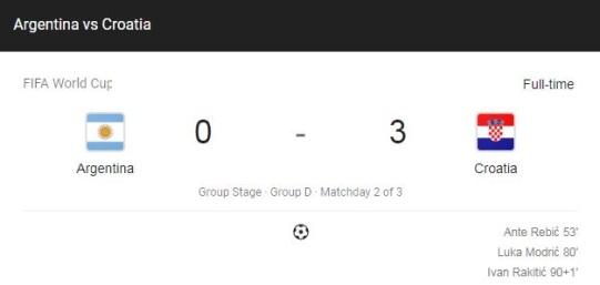argentina croatia full score fifa 2018