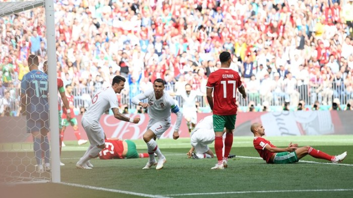 cristiano ronaldo scored 4th goal morocco fifa world cup