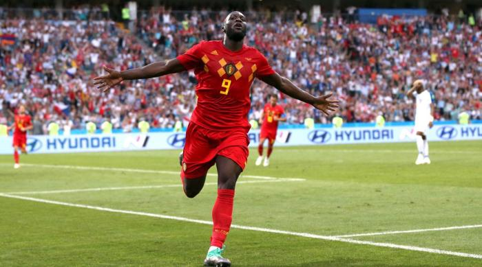 Lukaku, star striker of Belgium scored 2 goals against panama in their opening match at World cup