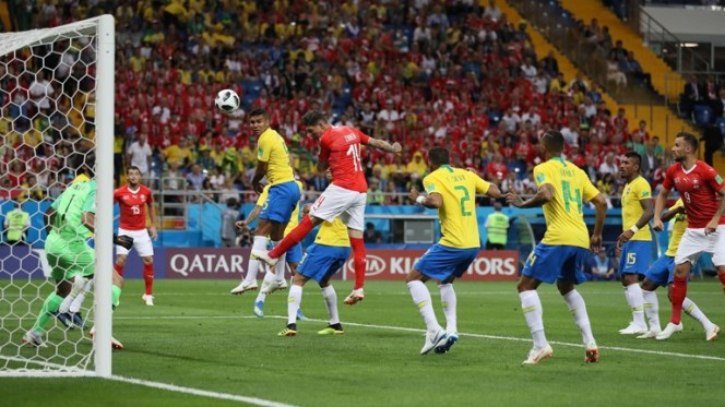 zubero scores for switzerland braxil vs swiss world cup 2018
