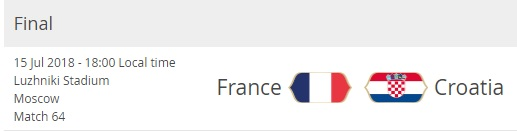 france-croatia-world-cup-final-schedule-fixture