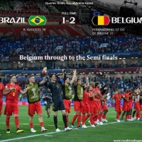 Brazil knocked out of 2018 FIFA world cup, Belgium through to the semi finals : See Match summary, Live score updates