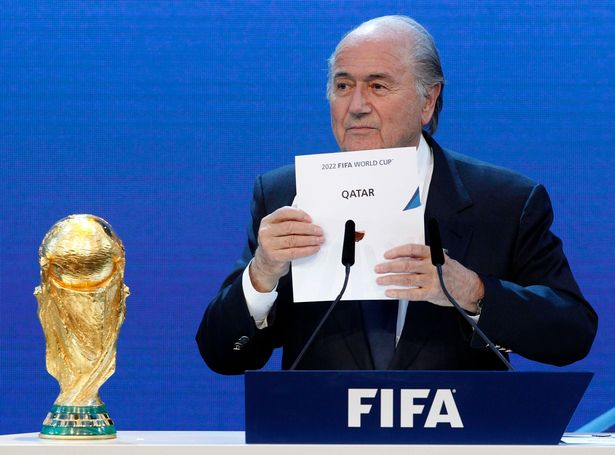 FIFA President Sepp Blatter announcing Qatar as host nation for 2022 FIFA world cup