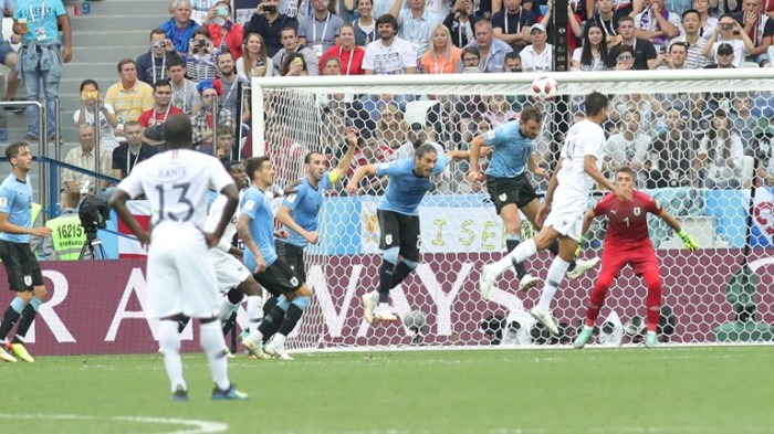 France defeated Uruguay to reach the semi final in 2018 FIFA world cup Russia