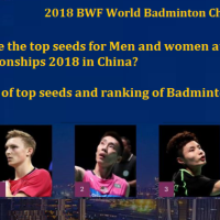 Who are the top seeds for Men and women at BWF World Badminton championships 2018 in China? Full list of top seeds and ranking of Badminton World championship 2018
