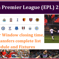 English Premier League (EPL) Season Updates - Player Transfer Window closing time, Major Player transfers complete list for the new season, Club chances to win the EPL title