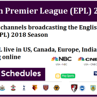 Which TV channels broadcasting the English Premier League (EPL) 2018 Season - Watch EPL live in US, Canada, Europe, India & Full online Match streaming