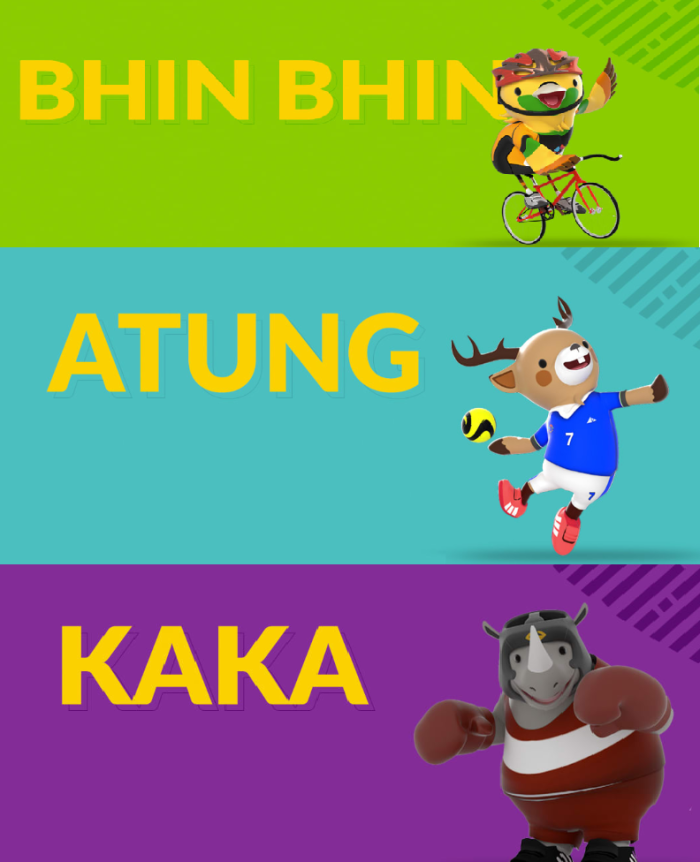 Bhin Bhin , Atung and Kaka are the game mascots of 2018 Asian games