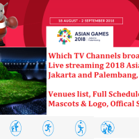 Which TV Channels broadcasting and Live streaming 2018 Asian Games (18th Asian Games) in Jakarta and Palembang, Indonesia - Venues list, Schedule, Game Mascots & Logo, Offical Song Details